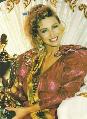 Sandra Aegerter wurde 1991 zur Miss Schweiz gekürt.