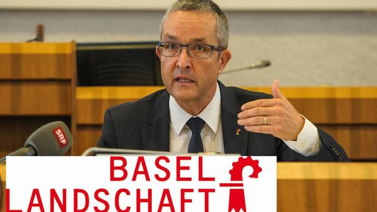 Regierungsrat Thomas Weber nahm am Donnerstag Stellung zum neuen Logo der Basellandschaft. (Archiv)