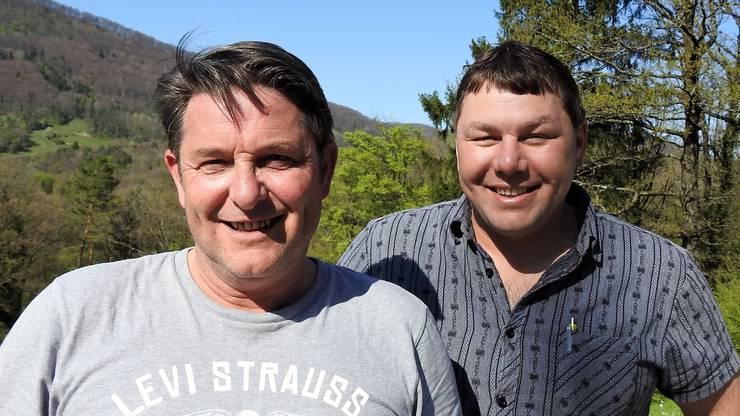 Die beiden Gemeinderatskandidaten der SVP Erlinsbach
