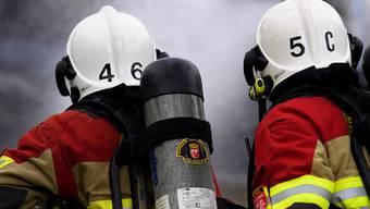 Feuerwehr-Einsatzkräfte bei einem Löscheinsatz. (Symbolbild)