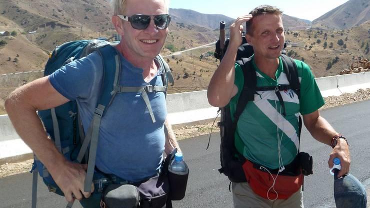 Christoph Obmascher (l.) und Simon Niggli sind schon weit gewandert.