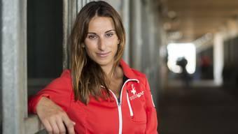 Die Schweizer Equipenreiterin Janika Sprunger