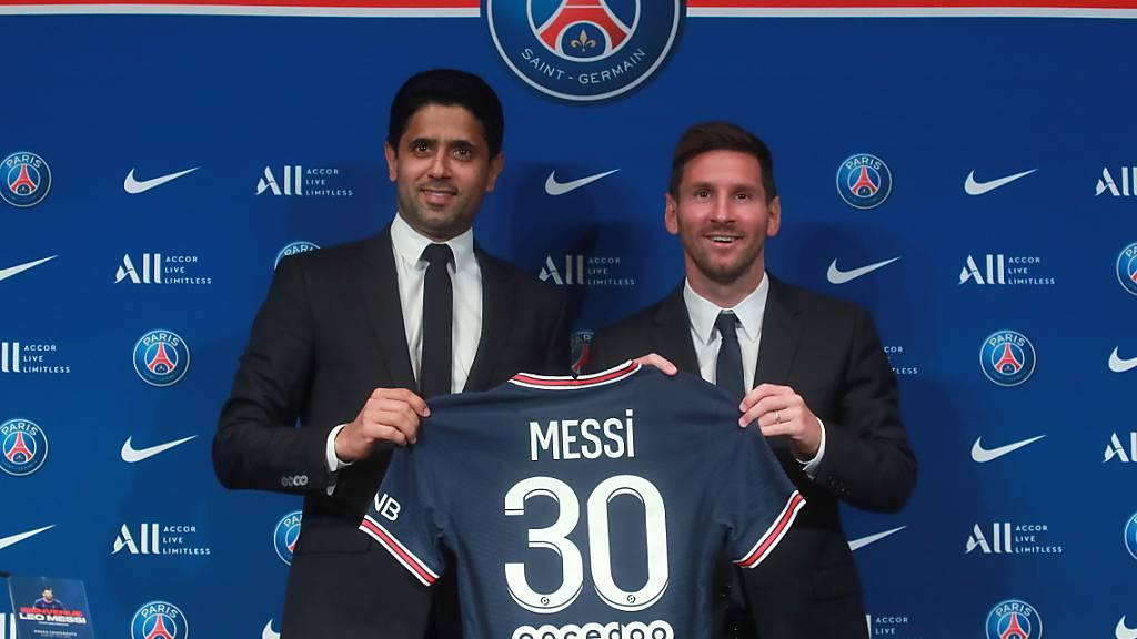 PSG stellt Lionel Messi vor