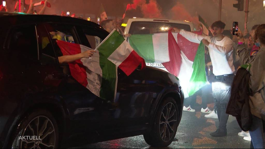 Italienischer Freudentaumel: In Aarau und Solothurn gab es für Azzurri-Fans kein Halten mehr