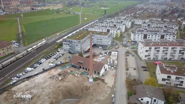 Sprengung von Kamin in Rheinfelden