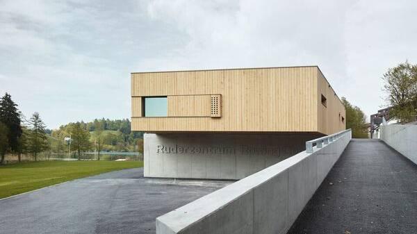 Das neue Ruderzentrum am Rotsee.