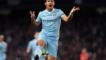 Nach 11 Minuten erzielte Sergio Agüero das 1:0 für Manchester City.