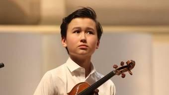 Das schwedische Wunderkind Daniel Lozakovich ist eines von vielen Highlights auf dem Programm des Verbier Festivals, das morgen beginnt. (Pressebild)