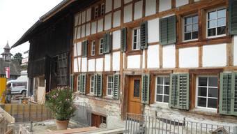 Das älteste Gebäude in Aesch wird zur neuen Gemeindebibliothek umgebaut.