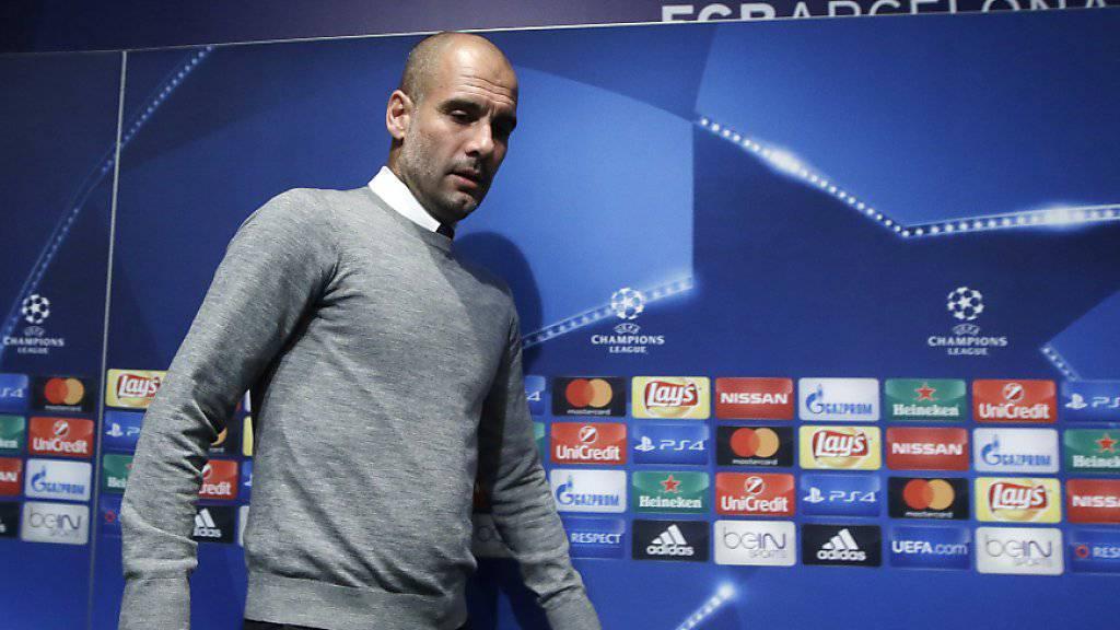 Für Manchesters Trainer Pep Guardiola ist es die zweite Rückkehr an seine alte Wirkungsstätte