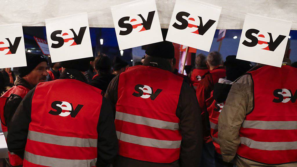 Die Gewerkschaft des Verkehrspersonals SEV feiert dieses Jahr ihr 100-jähriges Bestehen. (Archivbild)