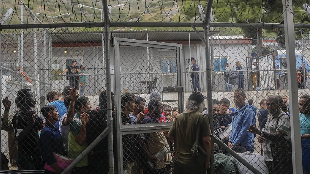 Ausschreitungen in Migrantenlager auf griechischer Insel Samos