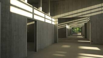 Natürliches Licht und viel Platz: Der Schulhausneubau wird mit modernen architektonischen Methoden für einen zeitgemässen Unterricht realisiert. Flurina Dünki