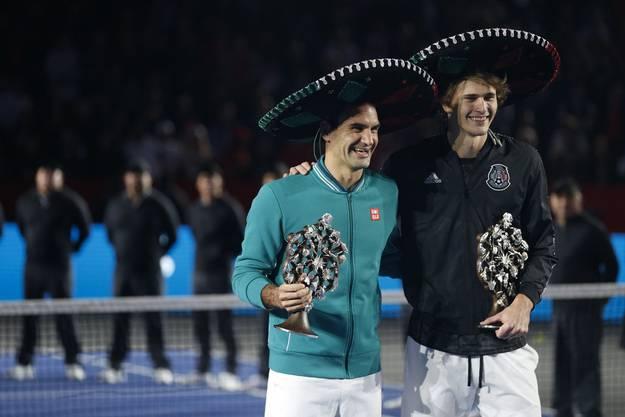 Im November spielten Roger Federer und Alexander Zverev in Mexiko vor einer Rekordkulisse von über 40'000 Zuschauern in Mexiko-Stadt.