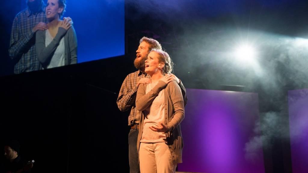 In den christlichen Musicals werden wahre Geschichten aus dem Leben erzählt.