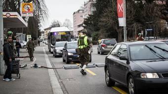 Erstes Reporterfoto aus Aarau vor der Sprengung