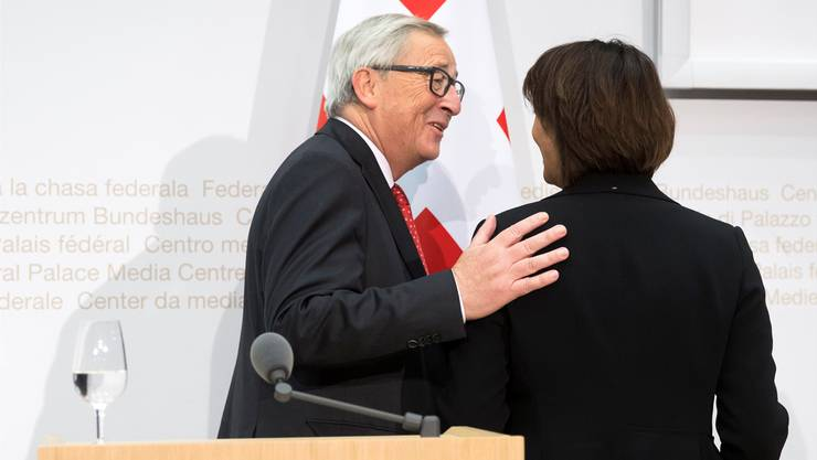 Jean-Claude Juncker hatte Doris Leuthard und dem Bundesrat in Bern ein neues Angebot gemacht.