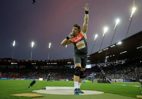 David Storl gewinnt die Goldmedaille im Kugelstossen.