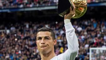 Gleich dahinter folgt Cristiano Ronaldo mit fünf Auszeichnungen