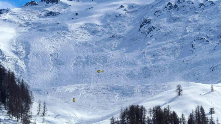 Die Lawine ging unterhalb des 2453 Meter hohen Jochgrubenkopfes nieder.