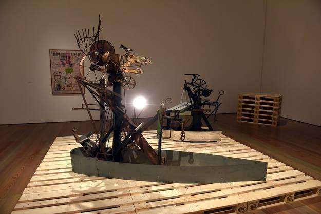 «Geisterschiff»:  Jean Tinguelys Modelle für die Wettsteinbrücke. © 2018 E.W.K., Bern