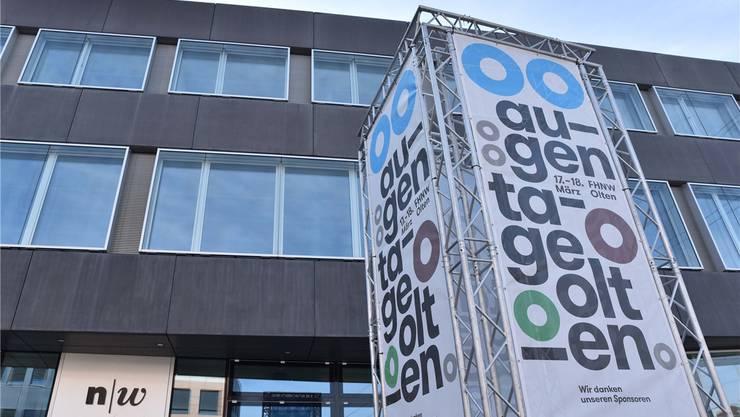 Die Augentage Olten finden kommenden Freitag und Samstag im Neubau der Fachhochschule Nordwestschweiz statt. Bruno Kissling