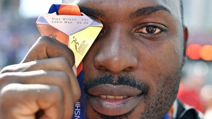 Alex Wilson holte über 200 m die Bronzemedaille.