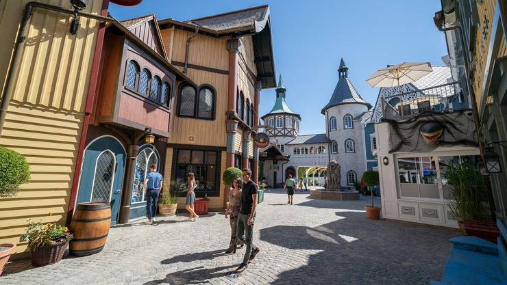(Bild: Der wieder aufgebaute Teil Skandinavien des Europa-Parks in Rust.)
