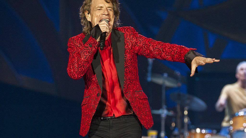 Mick Jagger hat mit 72 noch einmal den Klapperstorch bestellt. Der soll ihm sein achtes Kind bringen. (Archivbild)