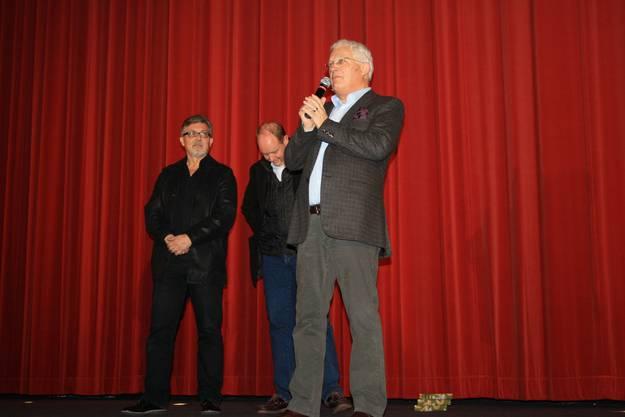 Jürg Ebe, Produzent Hans Syz und Peter Sterk (von links)