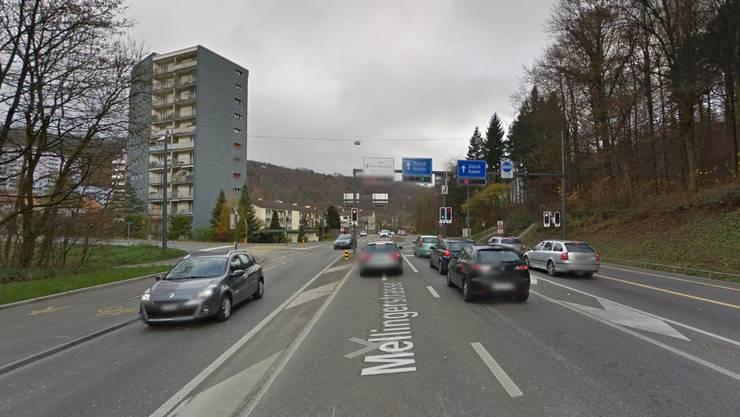 Die Mellingerstrasse in Baden.