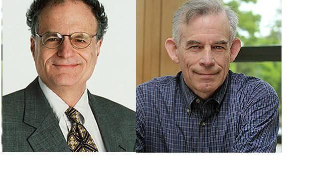Nobelpreis für Wirtschaft geht an Christopher Sims (r.) und Thomas Sargent