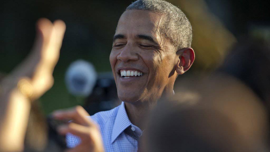 Bald wieder auf dem Arbeitsmarkt: Barack Obama hofft, nach seiner Amtszeit als US-Präsident das Gleichgewicht zwischen Arbeit, Freunden und Familie zu finden. (Archiv)