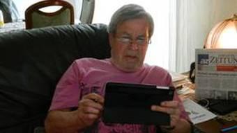 Helmut Baumli findet das iPad spitze.