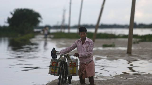 Monsunregen hat Gebiete Indiens überschwemmt