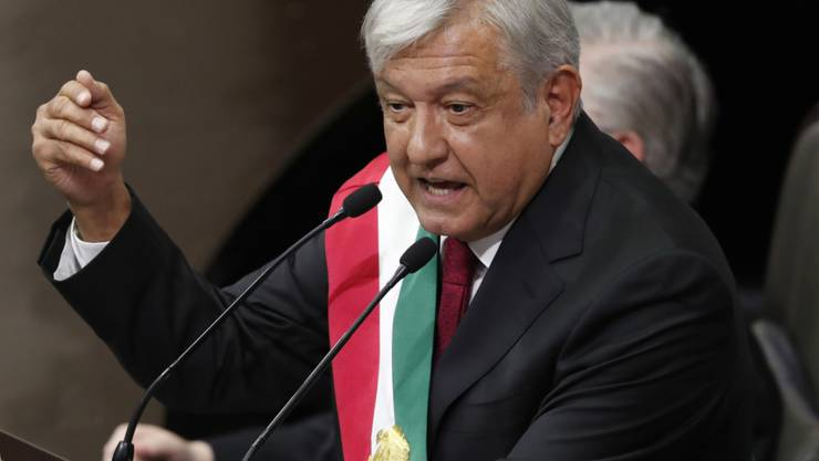 Im Amt vereidigt: der neue mexikanische Präsident Andrés Manuel López Obrador.