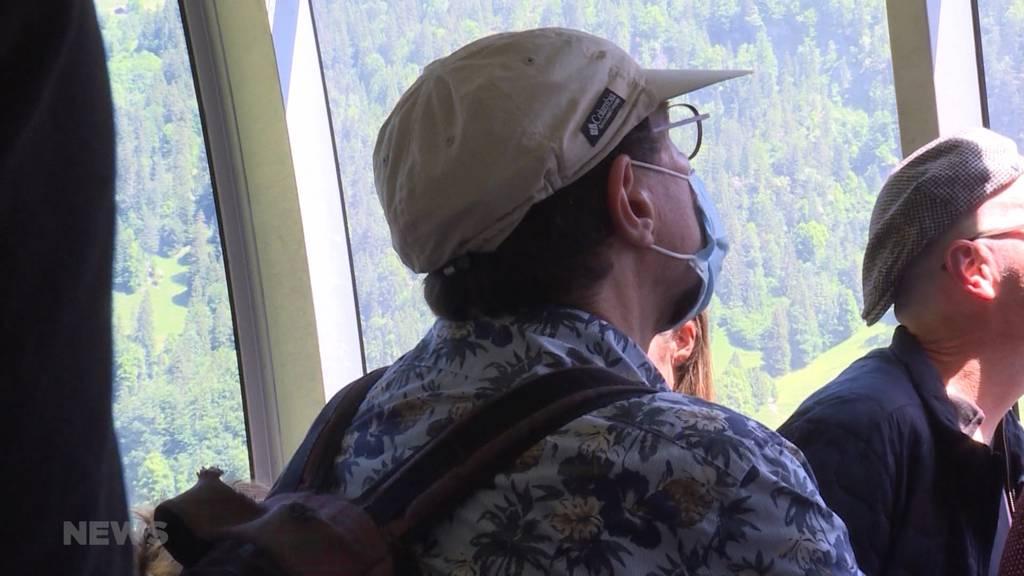 Auch in Bergbahnen und auf Schiffen gilt ab Montag eine Maskenpflicht