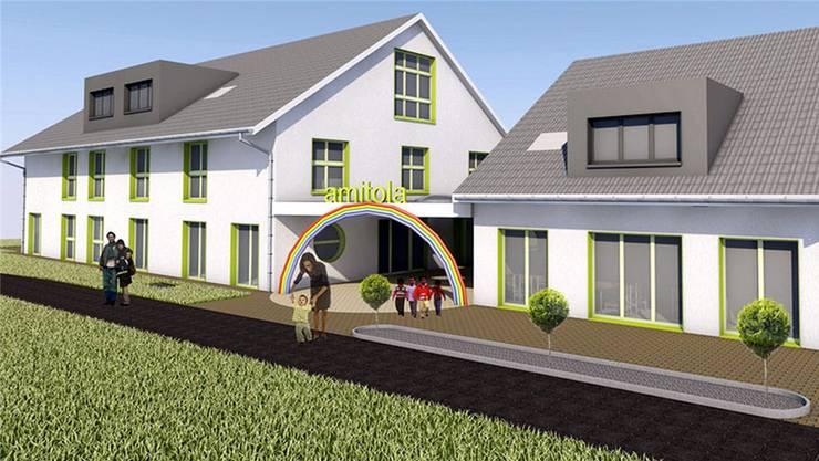 Gestaltungsplan des Wohnheims, welches das Kinderheim amitola in Neuendorf durch Spendengelder finanzieren will.
