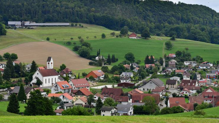 Die Dorfansicht von Laupersdorf.