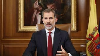 König Felipe äusserte sich in einer Fernsehansprache erstmals zum Konflikt um die Unabhängigkeit Kataloniens. Er übte scharfe Kritik an der Regionalregierung um Carles Puigdemont.