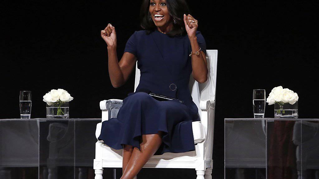 US-First Lady Michelle Obama setzt sich für Mädchenpower ein - hier am Dienstag im Apollo Theater in New York.