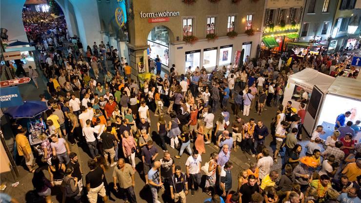 Volle Strassen, über hundert Beizen und Hunderttausende Gäste: Die Badenfahrt ist ein Fest für die ganze Region. AZ/Archiv