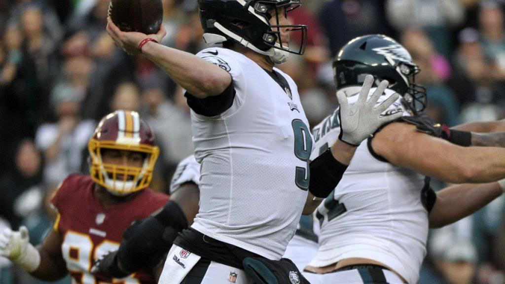 Nick Foles führte die Philadelphia Eagles wieder in die Playoffs liess sich gegen die Washington Redskins aber im letzten Viertel auswechseln