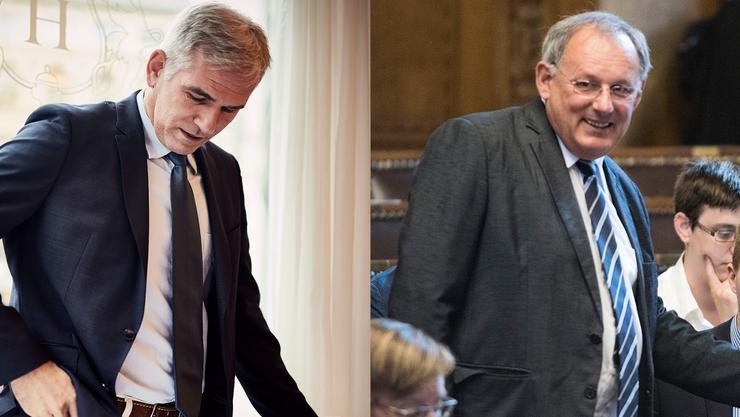 Einer verliert, einer gewinnt: Lorenz Nägelin verlässt die Partei (links) und Eduard Rutschmann präsidiert jetzt die SVP.