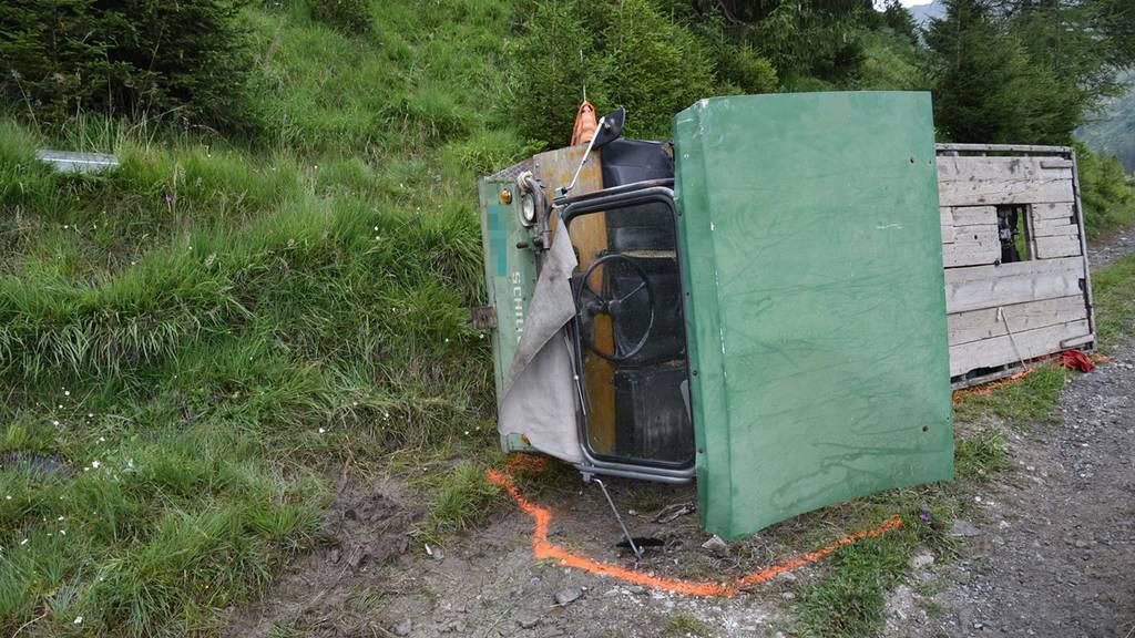 Tödlicher Unfall beim Kreuzen auf Alpstrasse