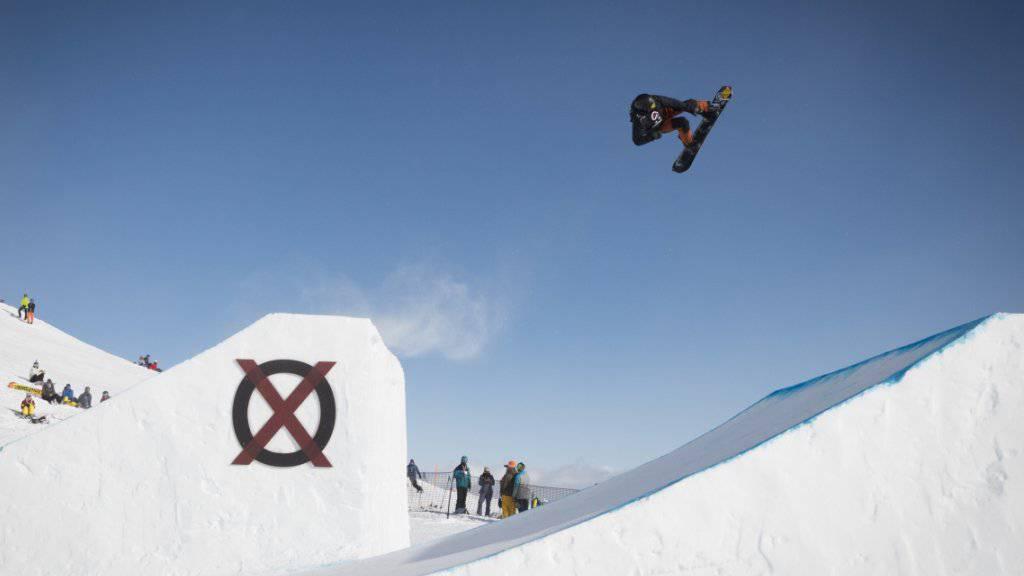 Dario Burch im Januar dieses Jahres beim Slopestyle-Final in Laax