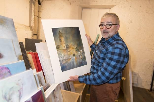 Peter-Lukas Meier ist Organisator des 19. Kunstsupermarkts