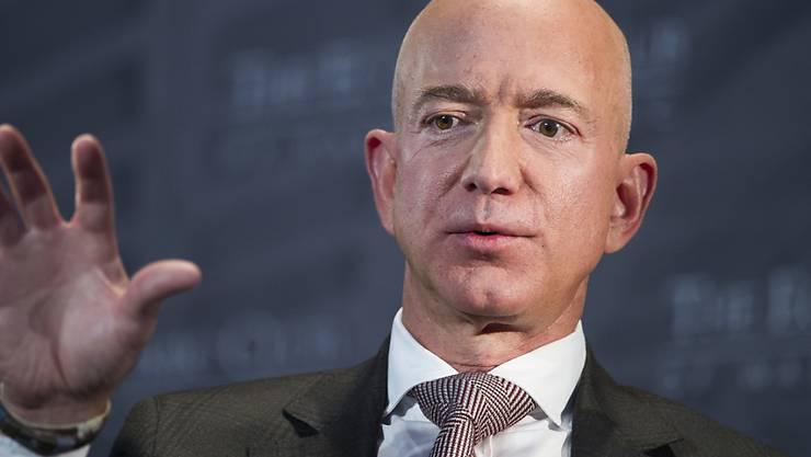 """Im Streit mit dem US-Präsident Donald Trump nahestehenden Boulevardblatt """"National Enquirer"""": Amazon-Chef Jeff Bezos."""