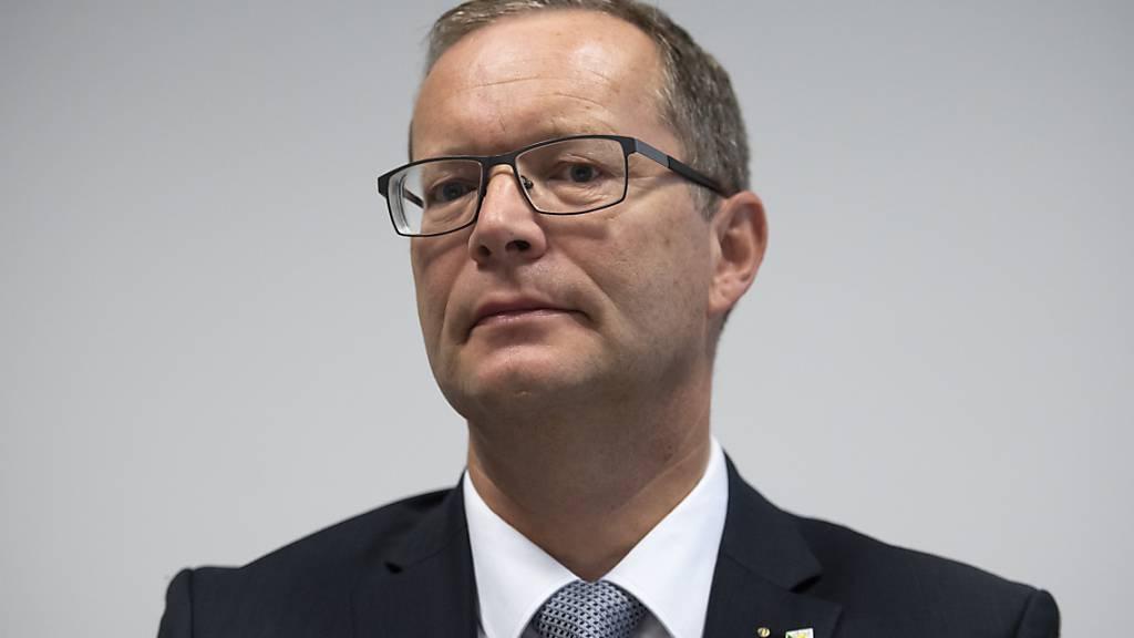 Regierungsratspräsident Walter Schönholzer (FDP) erläuterte am Donnerstag das Härtefallprogramm des Kantons Thurgau für Unternehmen, die von der Coronakrise betroffen sind (Archivbild).