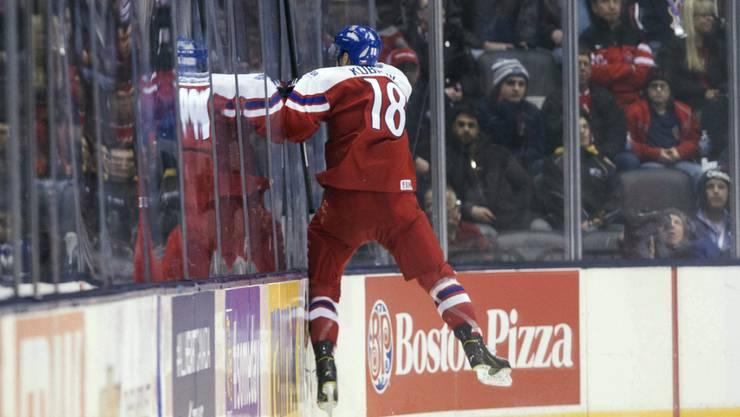 Ein Talent für Ambri-Piotta: Der Tscheche Dominik Kubalik (hier bei der Junioren-WM 2014) steht nächste Saison auf Abruf bereit